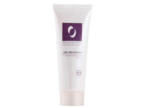 Osmotics Age Prevention Sheer Facial Tint SPF 45 - Light, a tinted sunscreen