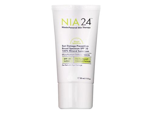 Free $25 NIA24 Travel-Size Sun Damage Prevention Broad Spectrum SPF 30 100% Mineral Sunscreen