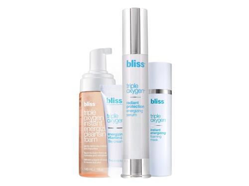 bliss Ready, Set, Glow Triple Oxygen Radiance Enhancing Skincare Set