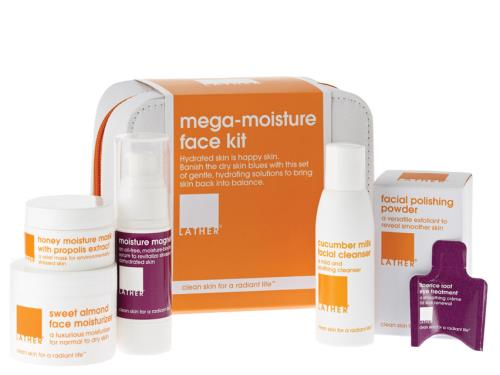 LATHER Mega-Moisture Face Kit