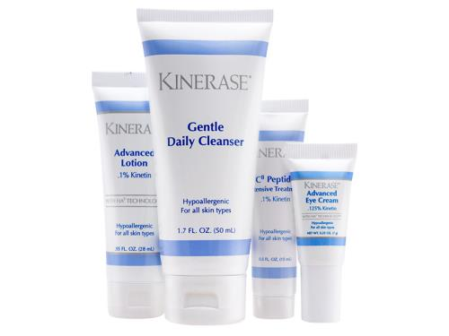Kinerase Essentials Kit with four Kinerase products